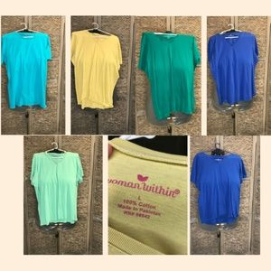 S/S Cotton Tee Bundle 6 Shirts